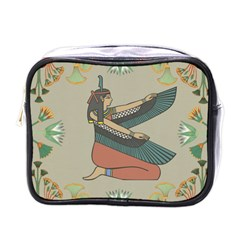 Egyptian Woman Wings Design Mini Toiletries Bags by Celenk