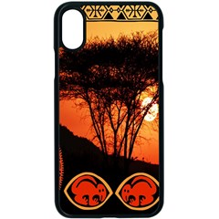 Africa Safari Summer Sun Nature Apple Iphone X Seamless Case (black) by Celenk