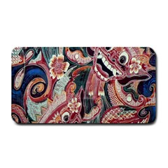 Indonesia Bali Batik Fabric Medium Bar Mats by Celenk
