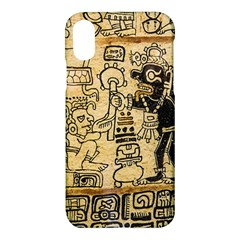 Mystery Pattern Pyramid Peru Aztec Font Art Drawing Illustration Design Text Mexico History Indian Apple Iphone X Hardshell Case by Celenk