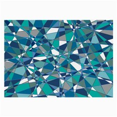 Abstract Background Blue Teal Large Glasses Cloth by Celenk