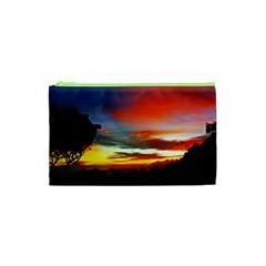 Sunset Mountain Indonesia Adventure Cosmetic Bag (xs) by Celenk