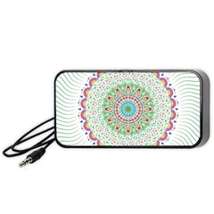 Flower Abstract Floral Portable Speaker