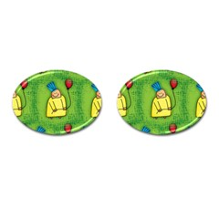 Seamless Repeating Tiling Tileable Cufflinks (oval)