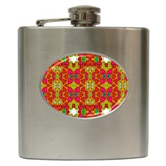 Abstract Background Pattern Doodle Hip Flask (6 Oz) by Celenk