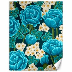 Light Blue Roses And Daisys Canvas 12  X 16   by AllThingsEveryone