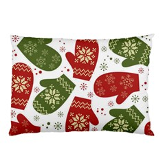 Winter Snow Mittens Pillow Case (two Sides)
