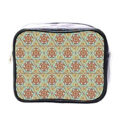 Hexagon Tile Pattern 2 Mini Toiletries Bags by Cveti
