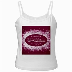 Christmas Card Red Snowflakes Ladies Camisoles by Celenk