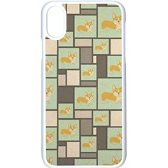 Quirky Corgi Kraft Present Gift Wrap Wrapping Paper Apple Iphone X Seamless Case (white) by Celenk