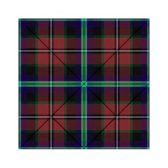 Purple And Red Tartan Plaid Acrylic Tangram Puzzle (6  X 6 ) by allthingseveryone