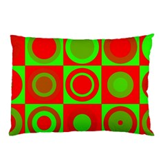 Redg Reen Christmas Background Pillow Case (two Sides)