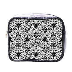 Star Crystal Black White 1 And 2 Mini Toiletries Bags by Cveti