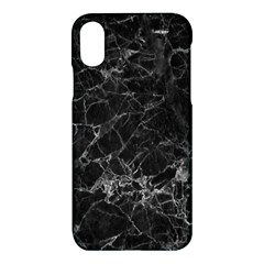 Black Texture Background Stone Apple Iphone X Hardshell Case by Celenk