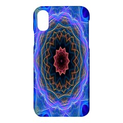 Cosmic Flower Kaleidoscope Art Apple Iphone X Hardshell Case by Celenk