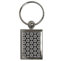 Flower Of Life Pattern Black White Key Chains (rectangle)  by Cveti