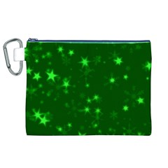 Blurry Stars Green Canvas Cosmetic Bag (xl) by MoreColorsinLife