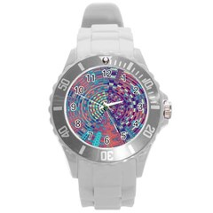 Gateway To Thelight Pattern 4 Round Plastic Sport Watch (l)
