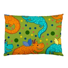 Colorful Dragons Pattern Pillow Case (two Sides)