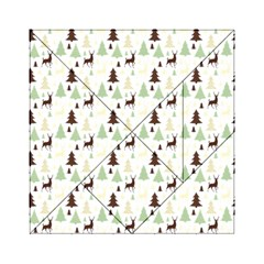Reindeer Tree Forest Acrylic Tangram Puzzle (6  X 6 ) by patternstudio