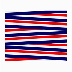 Red White Blue Patriotic Ribbons Small Glasses Cloth by Celenk