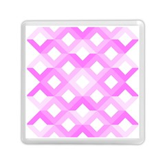 Geometric Chevrons Angles Pink Memory Card Reader (square)  by Celenk
