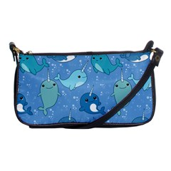 Cute Narwhal Pattern Shoulder Clutch Bags by allthingseveryday