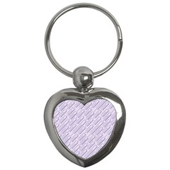 Halloween Lilac Paper Pattern Key Chains (heart)  by Celenk