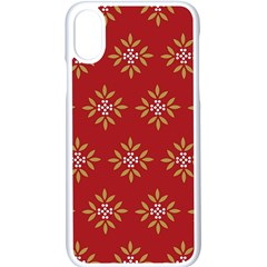 Pattern Background Holiday Apple Iphone X Seamless Case (white) by Celenk