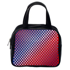Dots Red White Blue Gradient Classic Handbags (one Side) by Celenk