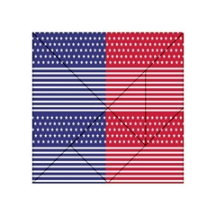 American Flag Patriot Red White Acrylic Tangram Puzzle (4  X 4 ) by Celenk