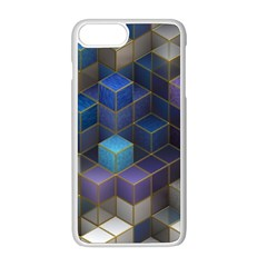 Cube Cubic Design 3d Shape Square Apple Iphone 8 Plus Seamless Case (white) by Celenk