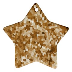 Texture Background Backdrop Brown Star Ornament (two Sides) by Celenk