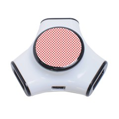 Sexy Red And White Polka Dot 3 Port Usb Hub