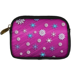 Snowflakes 3d Random Overlay Digital Camera Cases by Celenk