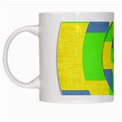 Fabric 3d Geometric Circles Lime White Mugs by Celenk