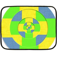 Fabric 3d Geometric Circles Lime Fleece Blanket (mini) by Celenk