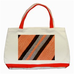 Fabric Textile Texture Surface Classic Tote Bag (red) by Celenk
