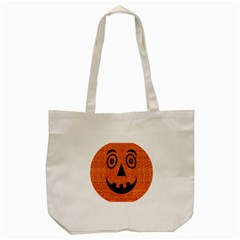 Fabric Halloween Pumpkin Funny Tote Bag (cream) by Celenk