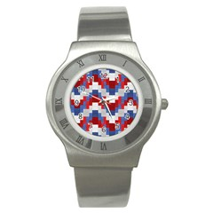 Texture Textile Surface Fabric Stainless Steel Watch by Celenk