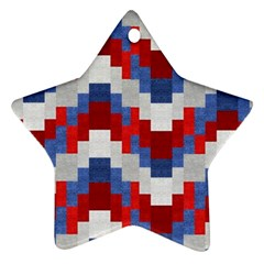 Texture Textile Surface Fabric Star Ornament (two Sides) by Celenk