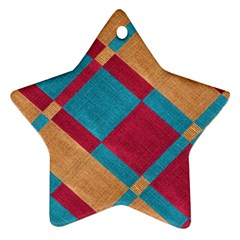 Fabric Textile Cloth Material Ornament (star) by Celenk