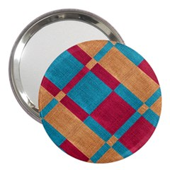 Fabric Textile Cloth Material 3  Handbag Mirrors by Celenk