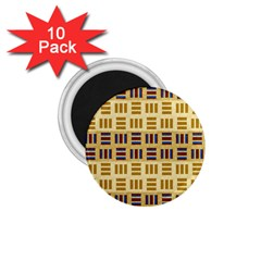 Textile Texture Fabric Material 1 75  Magnets (10 Pack)  by Celenk