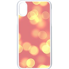 Soft Lights Bokeh 4b Apple Iphone X Seamless Case (white) by MoreColorsinLife