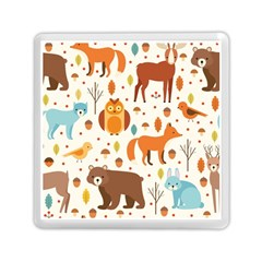 Woodland Friends Pattern Memory Card Reader (square)  by allthingseveryday