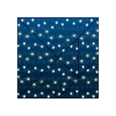 Christmas Light Blue Acrylic Tangram Puzzle (4  X 4 ) by jumpercat