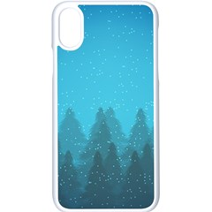 Winter Land Blue Apple Iphone X Seamless Case (white) by jumpercat
