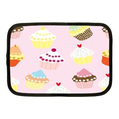 Cupcakes Wallpaper Paper Background Netbook Case (medium)  by Celenk