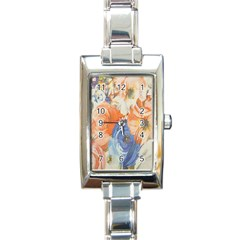 Texture Fabric Textile Detail Rectangle Italian Charm Watch by Celenk